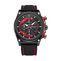 Часы Megir Black Red Black MG2051 (MN2051G-BK-1N8), фото 1
