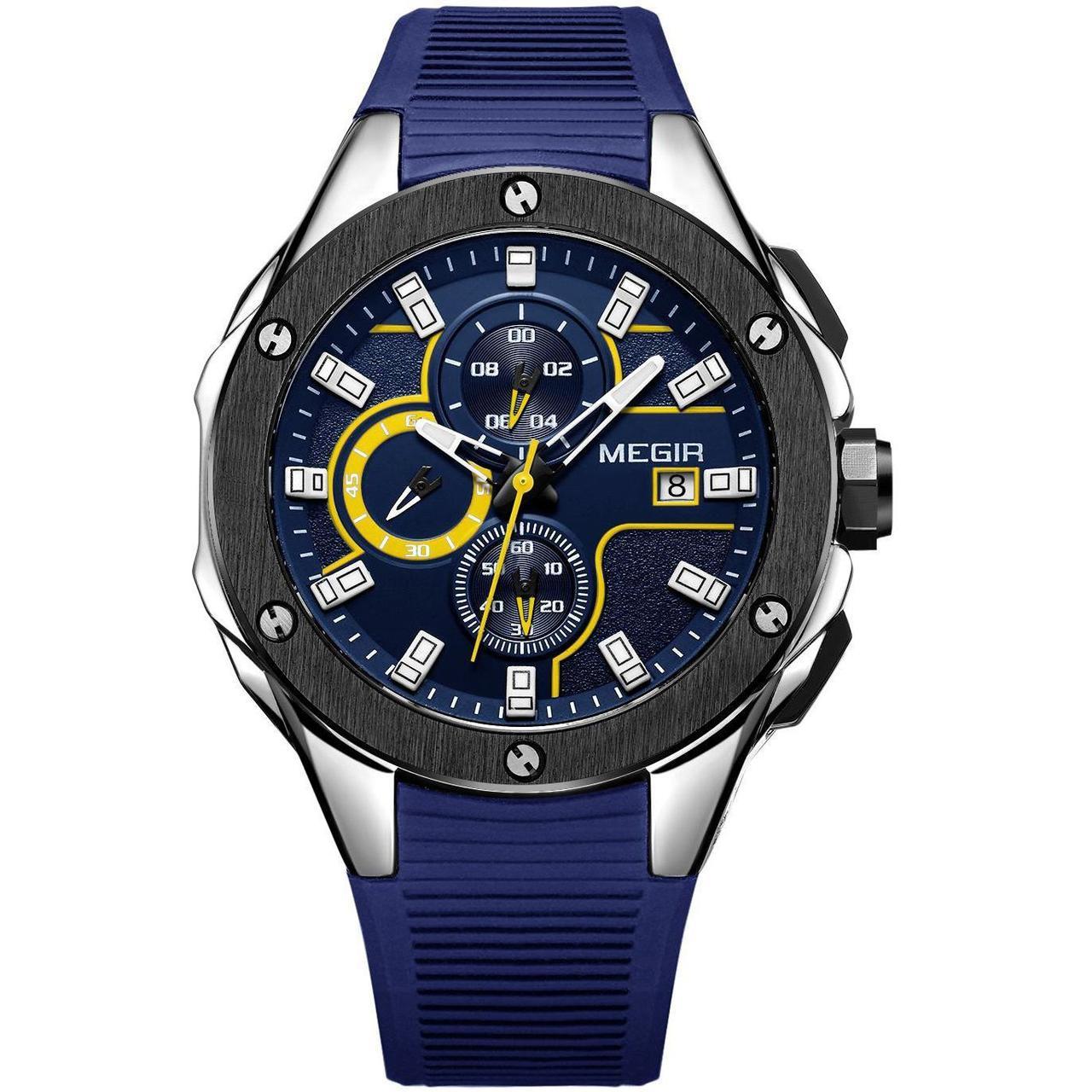 Часы Megir Black Blue MG2053 (MN2053GBE-2N13)