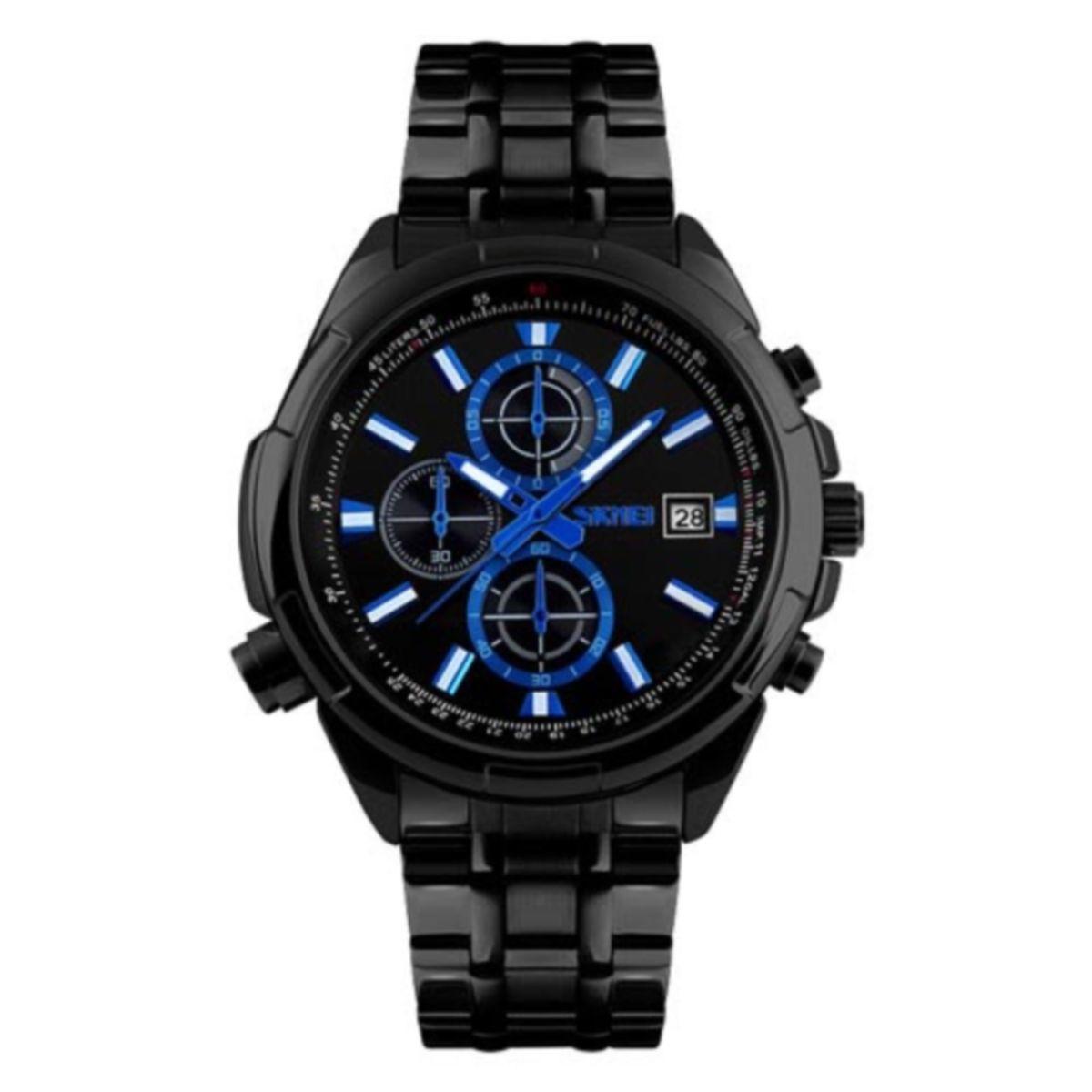 Часы Skmei 9107 Black Black Dail BOX (9107BOXBKBK)