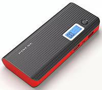 Внешний акумулятор Power Bank Pineng PN968 10000 mah с экраном и фонарем Black