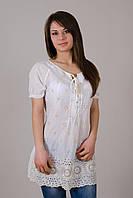 Легкая удлиненная женская блуза