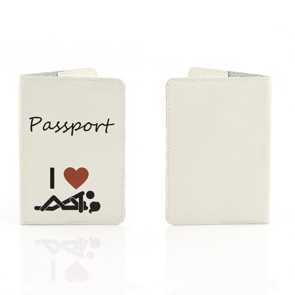 Кожаная обложка на паспорт StVeles Я Люблю (156-15510510)