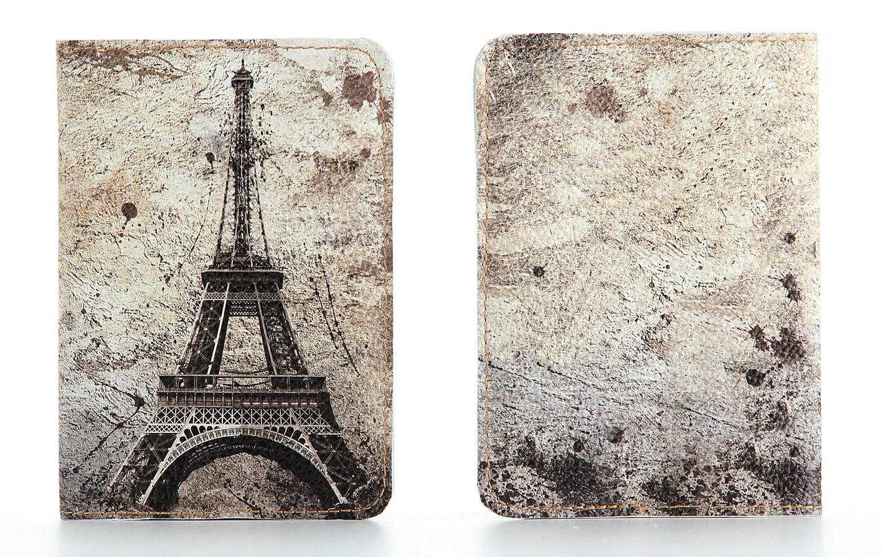 Кожаная обложка на паспорт StVeles Париж (156-155344)