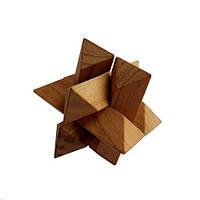 Деревянная головоломка Круть Верть Гордиев узел 5х5х5 см (nevg-0022), фото 1
