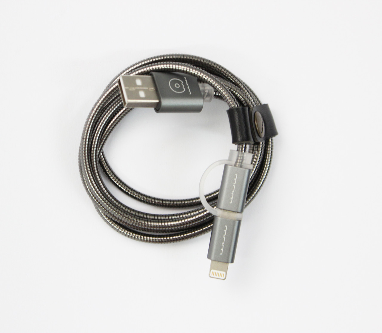 Кабель WUW X39 металл Apple Lightning + microUSB Silver (77703312_2)