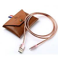Кабель WUW X06 металл microUSB Pink (77703310)