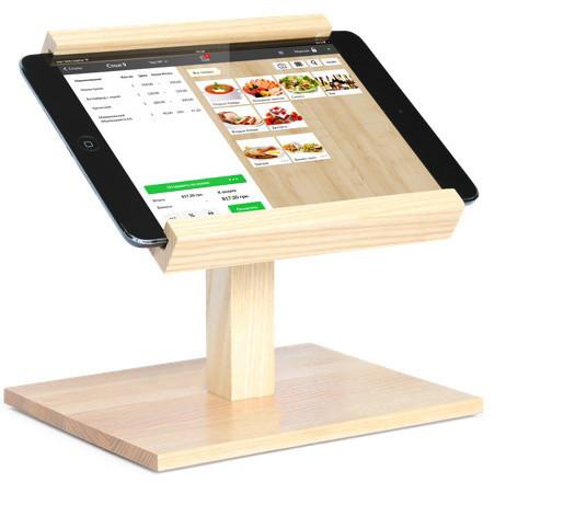 Подставка для планшета из натурального дерева T-POS 173