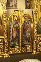 Иконы Пресвятой Богородицы и Архангела Гавриила. Царские врата иконостаса., фото 1