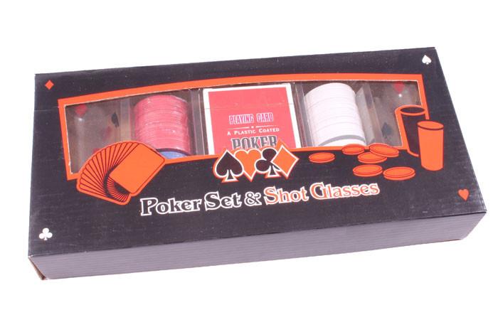 Набор для игры в покер Duke 100 фишек 2 рюмки (PG22100)
