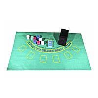Набор для игры в покер с механизмом для раздачи карт 200 фишек Duke (BJ2200), фото 1