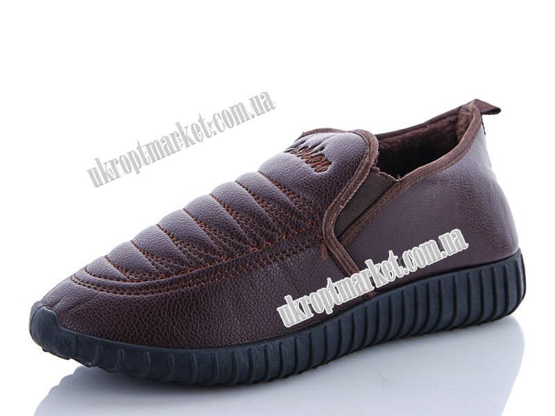"""Туфли мужские J360 коричневый зима (8 пар р.40-45) """"Lion"""" LB-1144"""