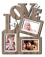 """Фоторамка коллаж """"Love"""" 37х45 см (H3-061C)"""