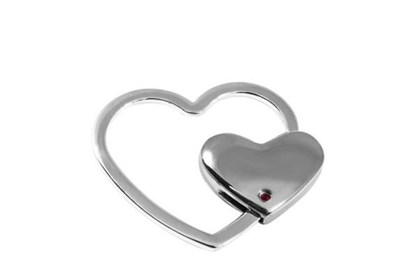 Брелок Elite Сердце Серебристый (65562)