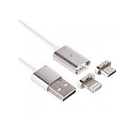 Магнитный кабель 2в1 micro USB - Lightning Cable (45565/1)