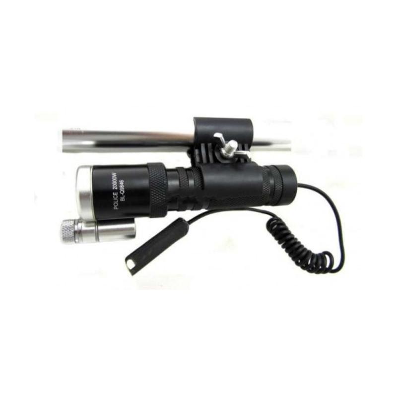 Тактический фонарь POLICE BL 9846 Q5 50000W фонарик + лазер 600 Lumen (44617/1)