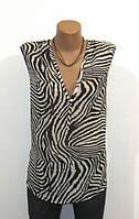 Стильная Черно Белая Блуза без Рукавов от Lindex Размер: 56-XXL