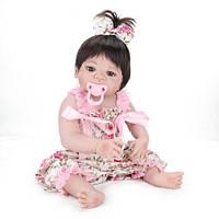 Кукла Реборн девочка 57 см полностью силиконовая (0000_6)