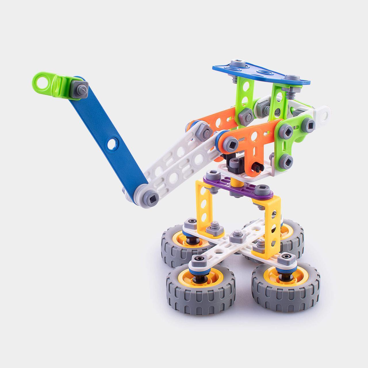 Детский мягкий конструктор Keedo Подъемный кран 92 детали (6-J-7701)