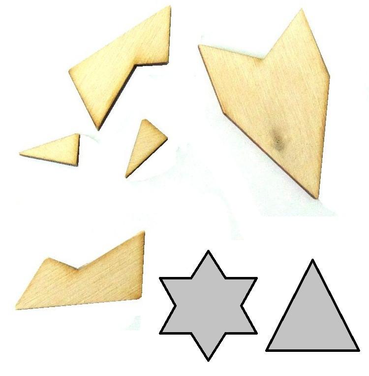 Головоломка геометрическая Звезда Крутиголовка (krut_0151)