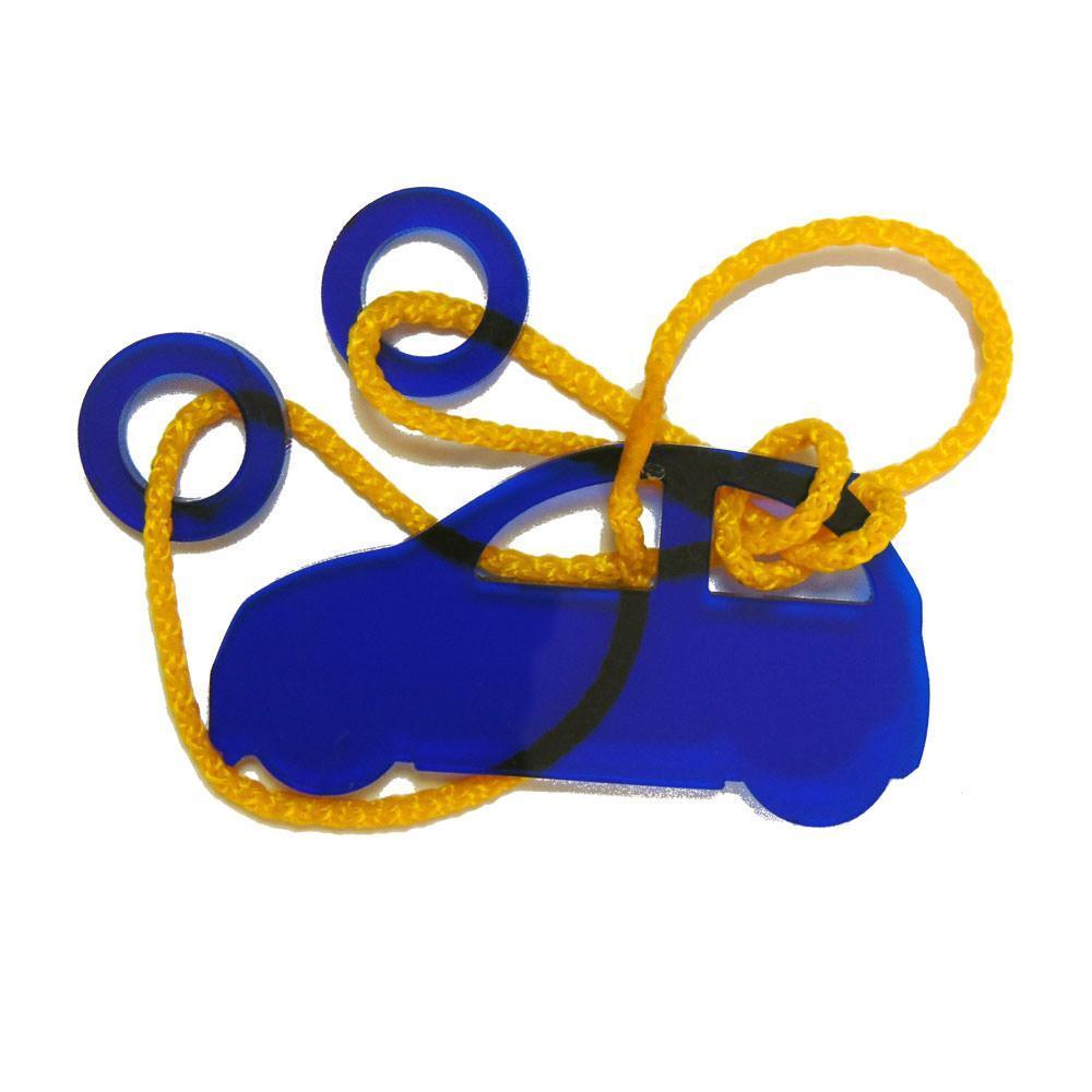 Акриловая головоломка Машинка Крутиголовка Синий(krut_0065)