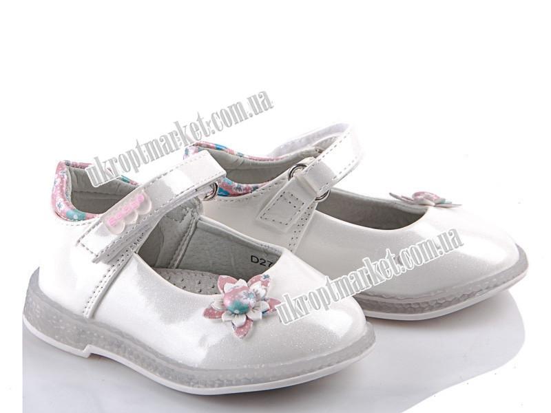 "Туфли детские D27 white (8 пар р.20-25) ""EeBb"" LG-1629"