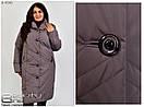 Осеняя куртка ,удлиненная, от 60-72 размера №4540, фото 2