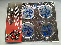 Наклейки на заглушки литых дисков (колпачки) с логотипом tiger (тигр)