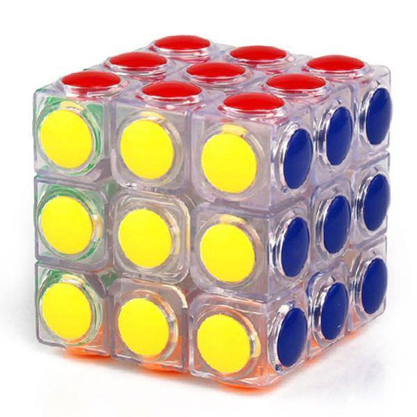 Кубик Рубика 3х3 YongJun Linggan Прозрачный (krut_0443)