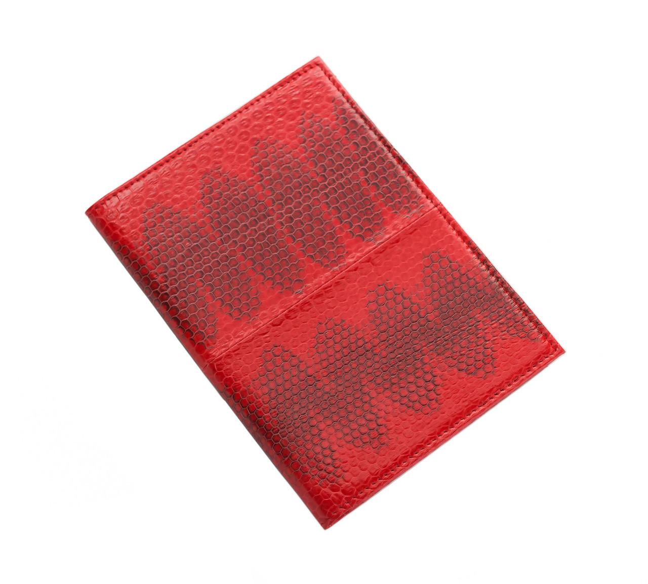 Обложка для паспорта Ekzotic leather Красная (snp01_5)