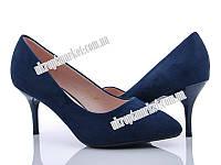 "Туфли женские 603-1 blue (6 пар р.36-40) ""Mei De Li"" LG-1501"