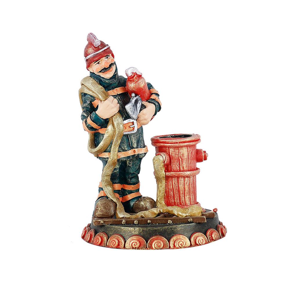 Статуэтка Гранд Презент Пожарник–карандашница 24 см (ВП807)