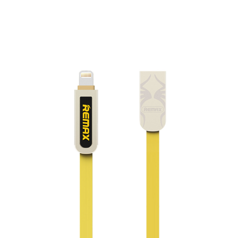 Кабель USB Remax Armor RC-067t 2in1 Lightning/MicroUSB Yellow
