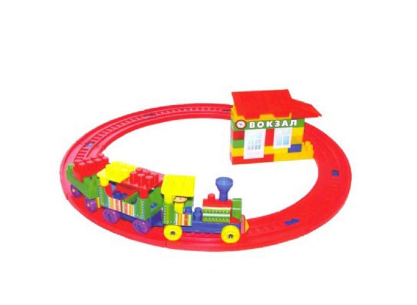 Конструктор Вокзал - железная дорога элементов 69 (ss0077072)
