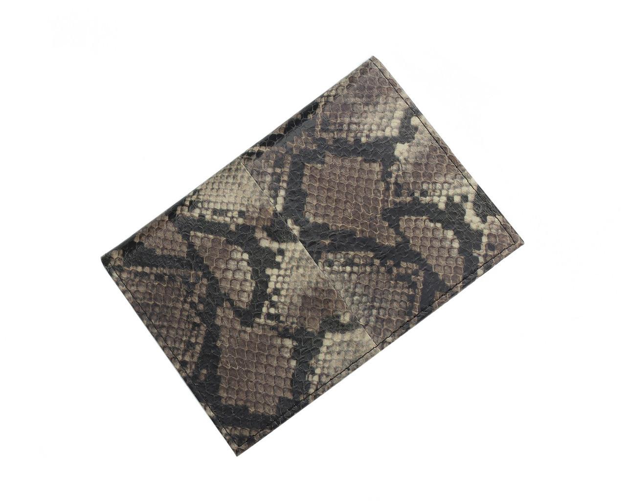 Обложка для паспорта  Ekzotic Leather Серая (snp01_2)