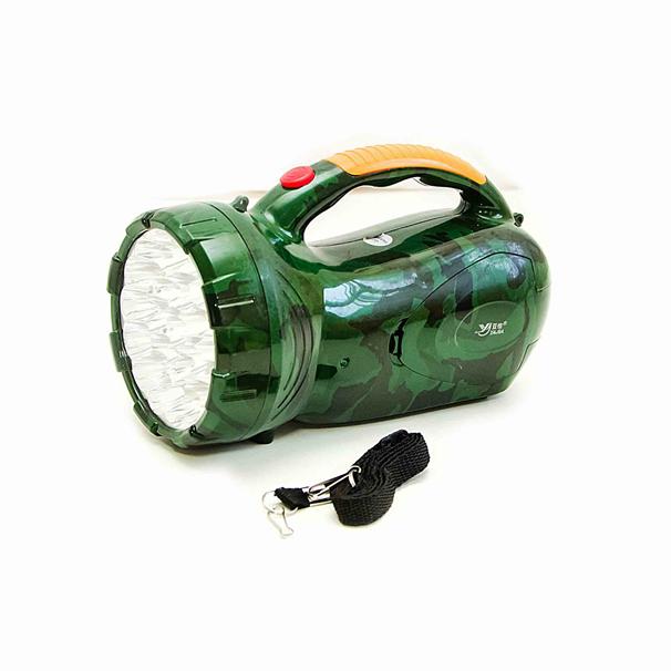Фонарь аккумуляторный Yajia-2807 LED Зеленый (2807 вид)