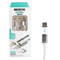 Магнитный кабель 3в1 Type C Magnetic USB Cable 1 м (45221)