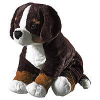 Мягкая игрушка IKEA HOPPIG собака Бело-коричневый (902.604.42)