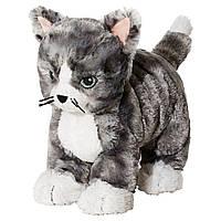 Мягкая игрушка кот IKEA LILLEPLUTT Cеро-белый (002.604.51)