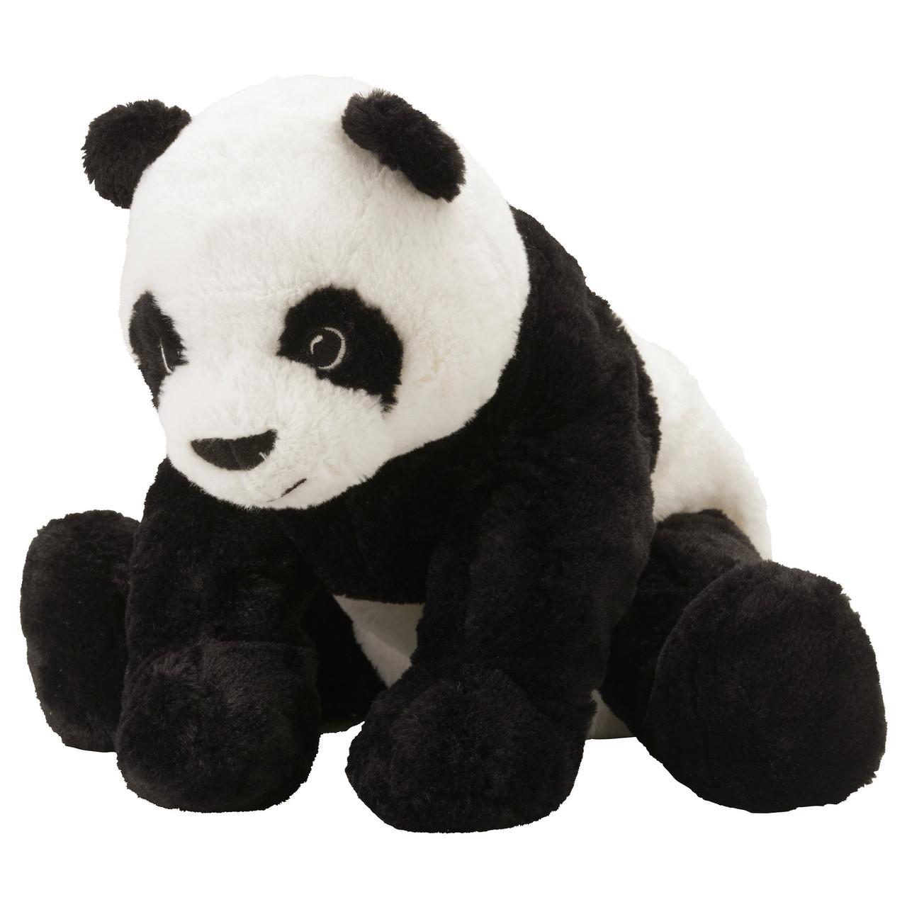 Мягкая игрушка панда IKEA KRAMIG Бело-черный (302.213.16)