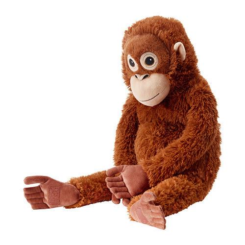 Мягкая игрушка IKEA DJUNGELSKOG орангутанг Коричневый (004.028.08)