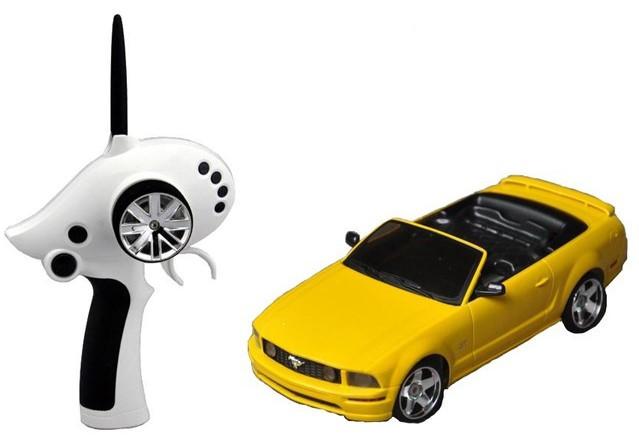 Автомодель р/у 1:28 Firelap IW02M-A Ford Mustang 2WD Желтый (FLP-211G6y)