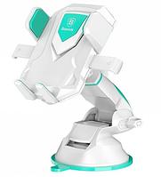 Автодержатель Baseus Car Holder Robot Bracket with Sucker Cyan (iqDX75401), фото 1