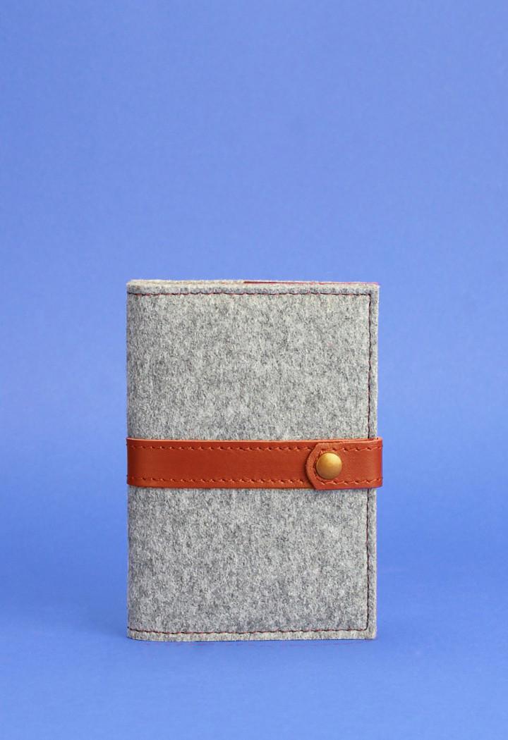 Обложка для паспорта BlankNote 1.1 Серый (BN-OP-1.1-felt-k)