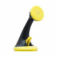 Автомобильный держатель для телефона магнитный HOCO CA7 Yellow (CA7-Y)