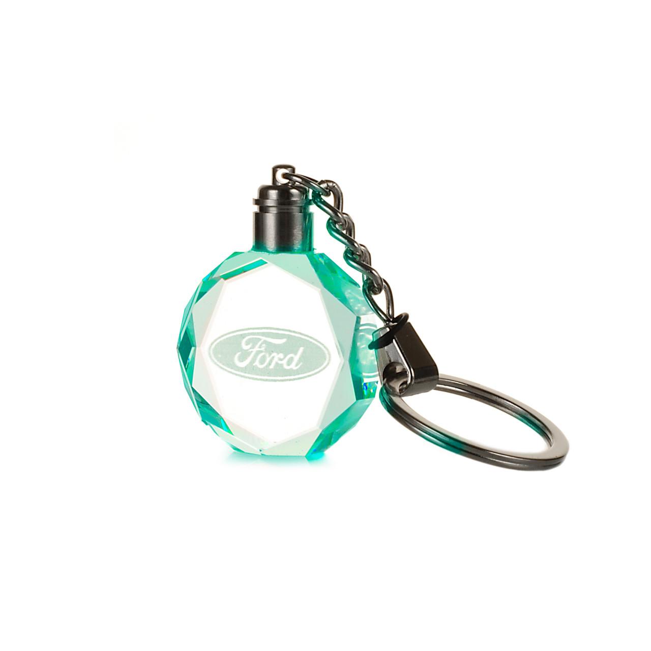 Брелок c подсветкой Motowey Ford Прозрачный (Ford LED)