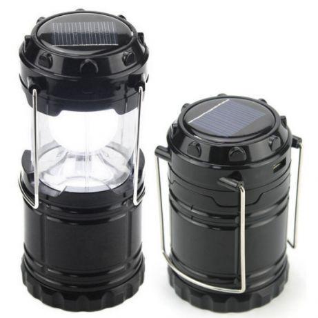 Кемпинговый фонарик Good Idea G85 c солнечной батареей Черный (hub_XjPj75027)