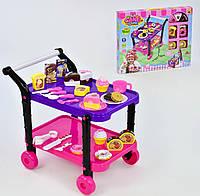 Игровой набор продуктов Acor Сладости с сервировочным столиком Разноцветный (1046-04)