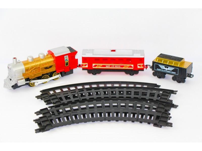 Железная дорога Мой Первый Поезд 06081114 11 деталей Красный (37-SAN009)