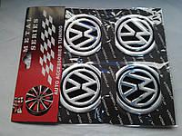 Наклейки на заглушки литых дисков (колпачки) с логотипом volkswagen (фольксваген)
