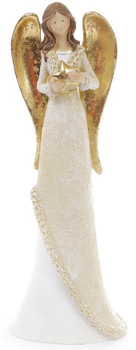 Фигурка декоративная Ангел в золотом 30 см Бежевый (psg_BD-823-209)
